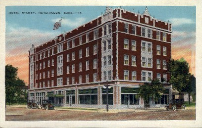 Hotel Stamey - Hutchinson, Kansas KS Postcard