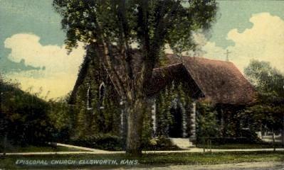 Episcopal Church - Ellsworth, Kansas KS Postcard