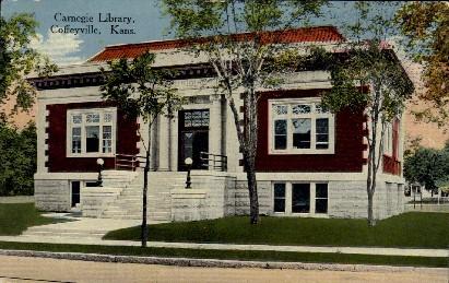 Carnegie Library  - Coffeyville, Kansas KS Postcard