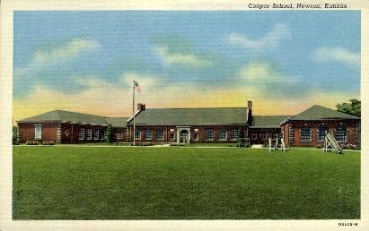 Cooper School - Newton, Kansas KS Postcard