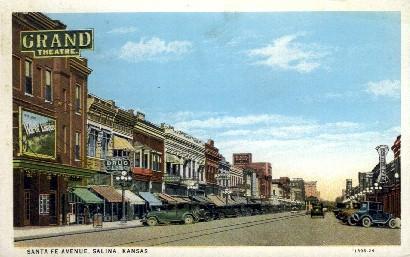 Santa Fe Ave.   - Salina, Kansas KS Postcard