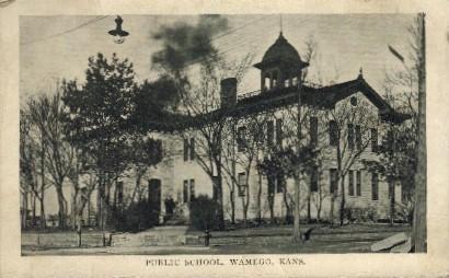 Public School - Wamego, Kansas KS Postcard
