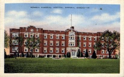 Newman Memorial Hospital - Emporia, Kansas KS Postcard