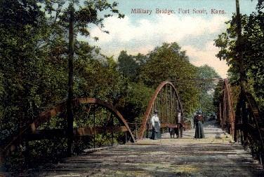 Military Bridge - Fort Scott, Kansas KS Postcard