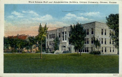 Ottawa University - Kansas KS Postcard