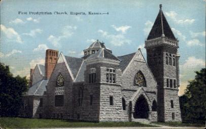 1st Presbyterian Church - Emporia, Kansas KS Postcard