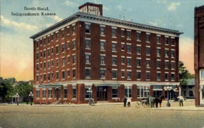 Booth Hotel - Independence, Kansas KS Postcard