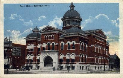 Court House - Emporia, Kansas KS Postcard