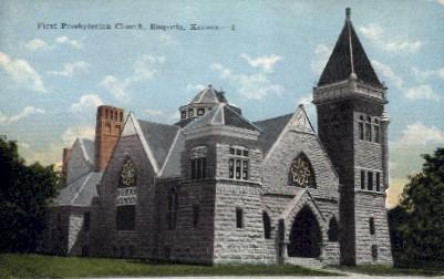 First Presbyterian Church - Emporia, Kansas KS Postcard