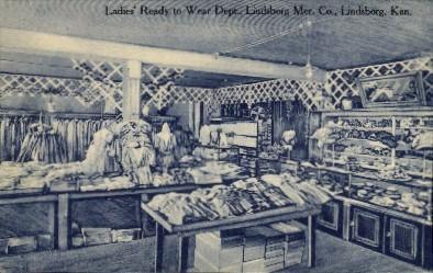 Ladies Ready to Wear Depot - Lindsborg, Kansas KS Postcard