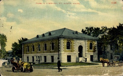 Public Library - Fort Scott, Kansas KS Postcard