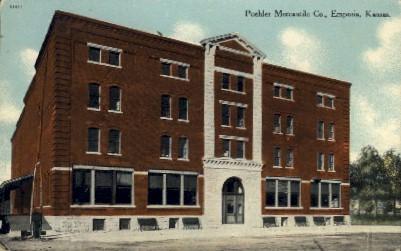 Poehler Mercantile Co.  - Emporia, Kansas KS Postcard