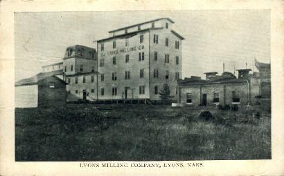 Lyons Milling Company - Kansas KS Postcard