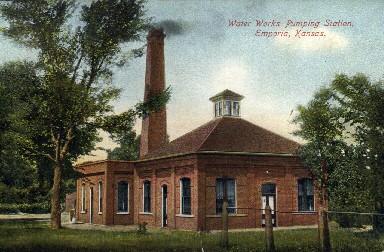Water Works Pumping Station - Emporia, Kansas KS Postcard