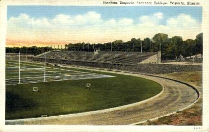 Stadium, Kansas State Teachers College - Emporia Postcard