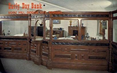 Early Day Bank, Boot Hill - Dodge City, Kansas KS Postcard