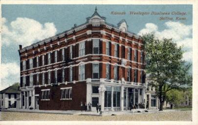 Wesleyan Business College - Salina, Kansas KS Postcard