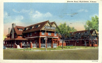 Bisonte Hotel - Hutchinson, Kansas KS Postcard