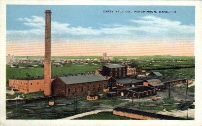 Carey Salt Co.  - Hutchinson, Kansas KS Postcard