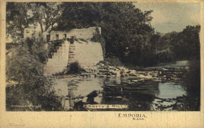 Pattys Mill - Emporia, Kansas KS Postcard