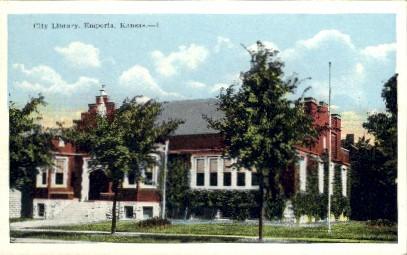 City Library - Emporia, Kansas KS Postcard