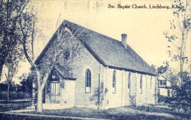 Sw. Baptist Church - Lindsborg, Kansas KS Postcard