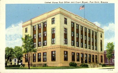 U.S. Post Office & Court House - Fort Scott, Kansas KS Postcard