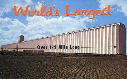 Worlds Largest Grain Elevator - Hutchinson, Kansas KS Postcard