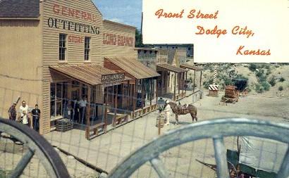 Front Street, Boot Hill - Dodge City, Kansas KS Postcard