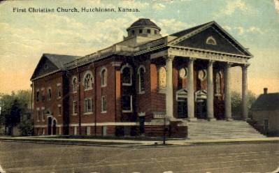 First Christian Church - Hutchinson, Kansas KS Postcard