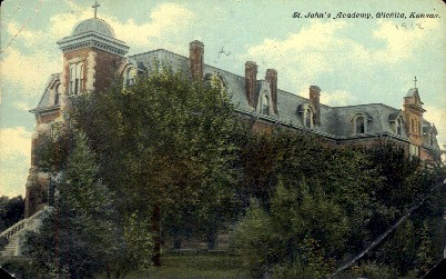 St. Johns Academy  - Wichita, Kansas KS Postcard