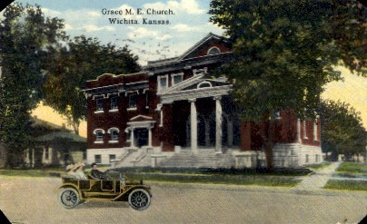 Grace M.E. Church - Wichita, Kansas KS Postcard