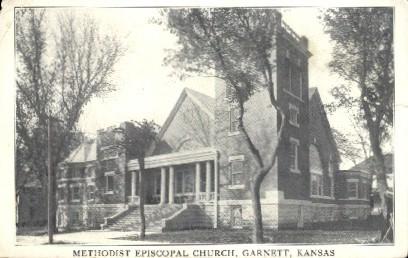 Methodist Episcopal Church - Garnett, Kansas KS Postcard