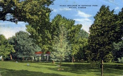 Kenwood Park - Salina, Kansas KS Postcard