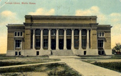 Carnegie Library  - Wichita, Kansas KS Postcard