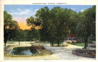 Riverside Park - Wichita, Kansas KS Postcard