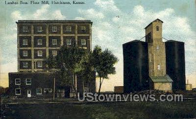 Larabee Bros Flour Mill - Hutchinson, Kansas KS Postcard