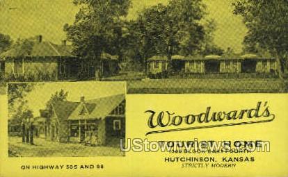 Woodwards - Hutchinson, Kansas KS Postcard