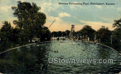 Stevens Swimming Pond - Hutchinson, Kansas KS Postcard