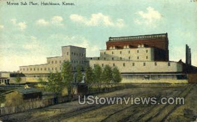 Morton Salt Plant - Hutchinson, Kansas KS Postcard