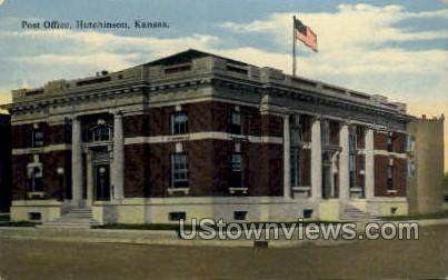 Post Office - Hutchinson, Kansas KS Postcard