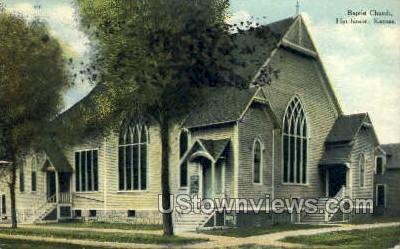 Baptist Church - Hutchinson, Kansas KS Postcard
