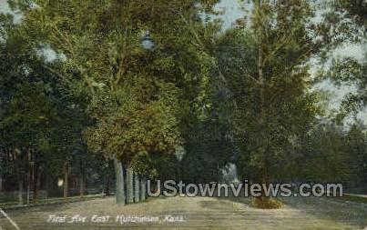 First Ave East - Hutchinson, Kansas KS Postcard