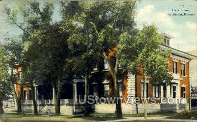 Elk's Home - Hutchinson, Kansas KS Postcard