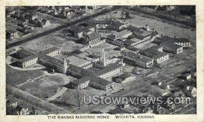 Masonic Home - Wichita, Kansas KS Postcard