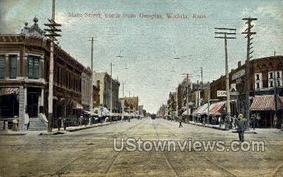 Main Street - Wichita, Kansas KS Postcard
