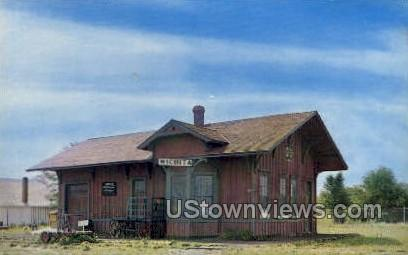 First Depot - Wichita, Kansas KS Postcard