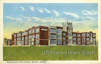 New Wichita High School - Kansas KS Postcard