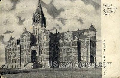 Friend University - Wichita, Kansas KS Postcard