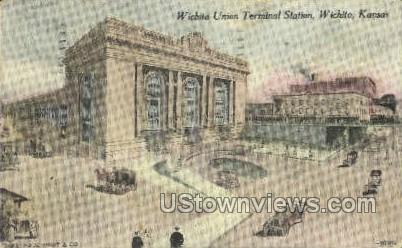 Union Terminal Station - Wichita, Kansas KS Postcard